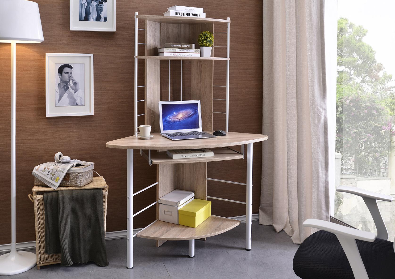Sixbros. scrivania porta pc angolare tavolo ufficio diversi colori b