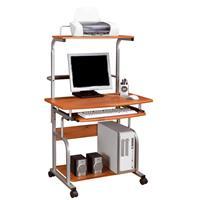 Mesa de ordenador - giratoria - Teca/Gris plateado - CT-7800/50