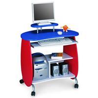 Mesa de ordenador para niños Rojo-Azul Q-203A/75