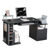 Mesa de ordenador negro granito S-202A/85