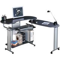 Mesa de ordenador Negro/Gris plateado S-213/96