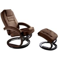 Relaxer Armchair Brown With Stool 007-Br/103