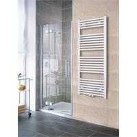 Towel Rail Radiator Width: 500 mm Straight White Lateral / Central fittings 