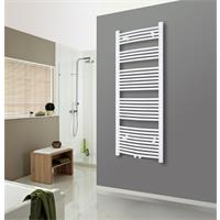 Towel Rail Radiator Width: 450 mm Curved White Lateral / Central fittings R20