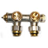 """Multiblock Thermostatventil Eck Mittelanschluss  1/2"""" M30 x 1,5 mm"""