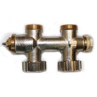 """Multiblock Thermostatventil Durchgang Mittelanschluss 1/2"""" M30 x 1,5 mm"""