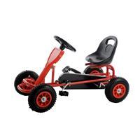 SixBros. Pedal GoKart Coche de pedales Rojo F90C/691