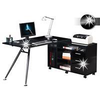 Mesa de ordenador lustre negro - CT-3366AM/734