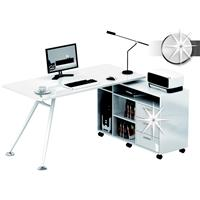 Computer Desk L-shape High Gloss White CT-3366AM/735