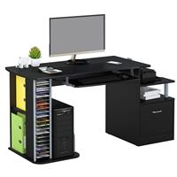 Computer Desk High Gloss Black S-202A/736