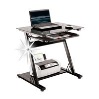 Glass Computer Desk High Gloss Black CT-3312D/1131