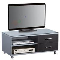 TV - Tisch LCD Schrank Silber/Schwarz - TV-09B/1152