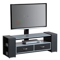 TV - Tisch LCD Schrank Silber/Schwarz - TV-07/1153