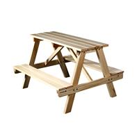 Children's Picnic Table Garden Furniture Table/Bench Natural Pine Wood- PTS-186-1/1158