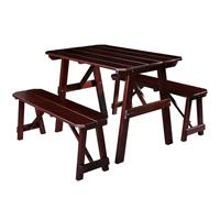 Children's  Picnic Table Garden Furniture Table/Bench Brown Pine Wood PT-187-1/1159