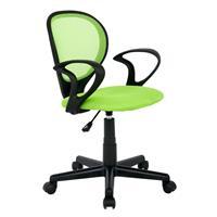 Silla de oficina Silla giratoria verde/negra H-2408F/1408