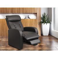 Relaxsessel Fernsehsessel TV Sessel verstellbar Liegefunktion Kunstleder schwarz  H-5610C/1413