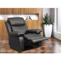Relaxsessel Fernsehsessel TV Sessel verstellbar Liegefunktion Kunstleder schwarz - H-5752C/1414