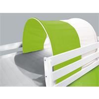 Tunnel / Tana per letto rialzato letto gioco verde/bianco TSG-50