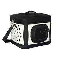 Foldable Pet Carrier, carrying bag for dogs Black/Beige Black/Beige 12041/1491