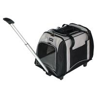 <b>Pet Trolley, Carrying case for dogs , Black/Grey 10081/1492