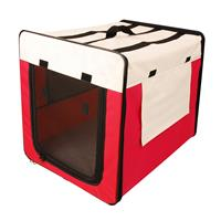 Dog soft kennel red/beige different sizes 1047C/1499