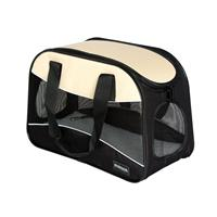 Pet Carrier Bag Black/Beige 1104/1505