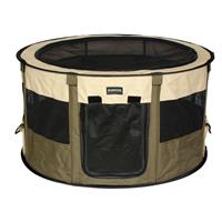 Fabric Play Pen Olive Green/Beige S-L 1020-S/1507