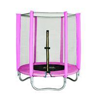 SixJump 4.5FT 1.40 M Garden Trampoline Pink T140/1534
