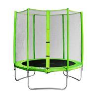 SixJump 1,85 M Trampolino elastico da giardino verde con rete di sicurezza CST185/L1566