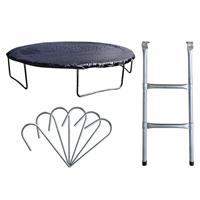Premium Set for garden trampoline 1.85 M 4.60 M various sizes of rain covers, Ladders and Hooks PS/2