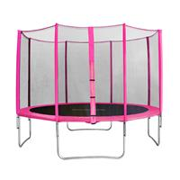 SixJump 12FT 3.70 M Garden Trampoline Pink  CST370/L1712