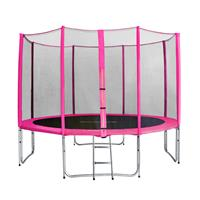 SixJump 12FT 3.70 M Garden Trampoline Pink  CST370/L1721