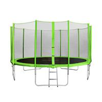 SixJump 14FT 4.30 M Garden Trampoline Green  TG430/1768