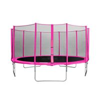 SixJump 15FT 4.60 M Garden Trampoline Pink  for safety CST460/L1785