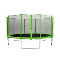 SixJump 4,60 M Trampolín Cama elástica de jardín verde  red de seguridad CST460/L1786