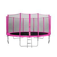 SixJump 15FT 4.60 M Garden Trampoline Pink  TP460/1791