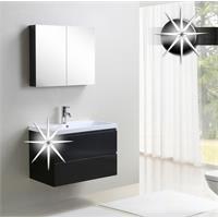 Set mobili da bagno - Mobili da bagno Anzio Nero lucido - MF802-HG-B/1829