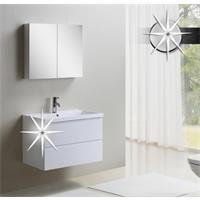 Badezimmermöbel Set - Badmöbel Oppido Hochglanz Weiß - MF802-HG-W/1830