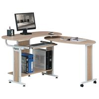 Folding Computer Desk Oak wooden look S-213/1838