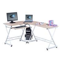 Mesa de ordenador Roble/Blanco Efecto madera - CT-3802/1843