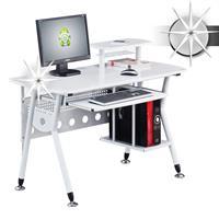 Mesa de ordenador blanco lustre - CT-3783/1850