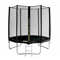 SixJump 6FT 1.85 M Garden Trampoline Black TS185/1926