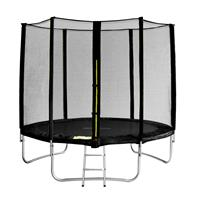 SixJump 8FT 2,45 M Garden Trampoline Black TS245/1929