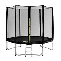 SixJump 8FT 2,45 M Garden Trampoline Black  TS245/1930