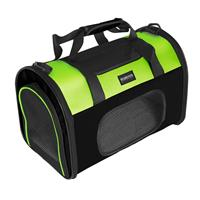 Pet Carrier Carrying Bag for pets Green/Black S-M 002F/2002