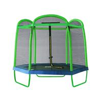 SixJump 7FT 2.10 M Garden Trampoline Green Safety net TG210/2026