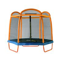 SixJump 2,10 M Trampoline de jardin Orange Filet de sécurité TO210/2027