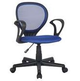Bürostuhl Schreibtischstuhl Blau/Schwarz H-2408F/2059