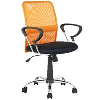 Chaise de bureau pivotante orange/noir H-8078F-2/2116